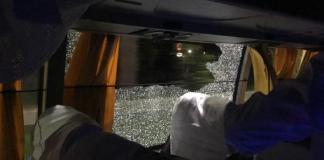 Australia cricket team bus attacked india