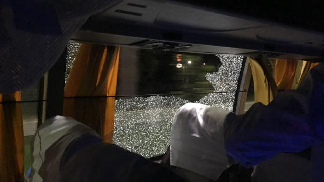 Australia cricket team bus attacked india