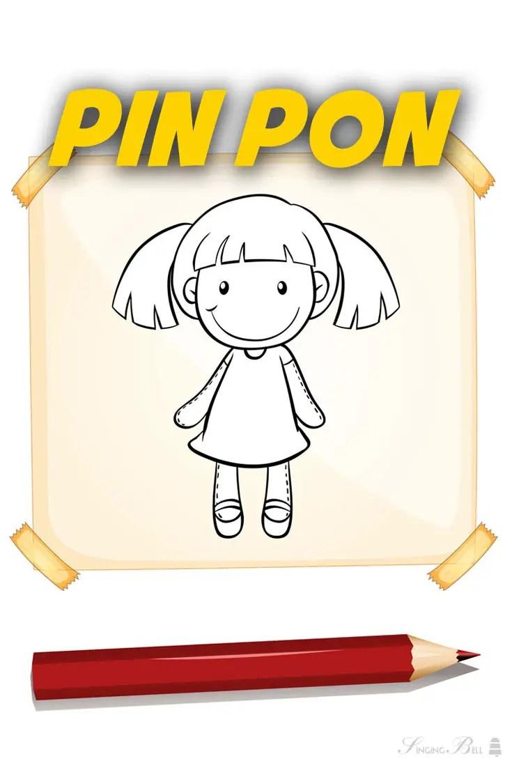 Pin Pon Lyrics : lyrics, Karaoke, Nursery, Rhymes