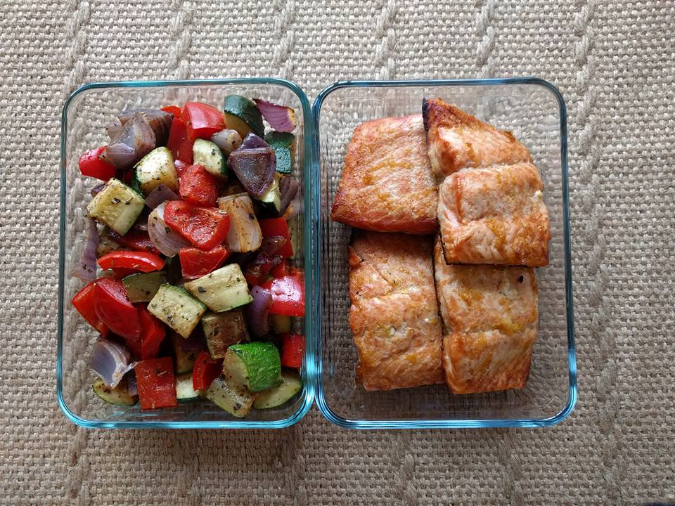salmon roasted veg