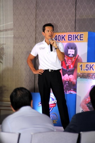 Sunrise Events' president and triathlete, Mr. Fred Uytengsu