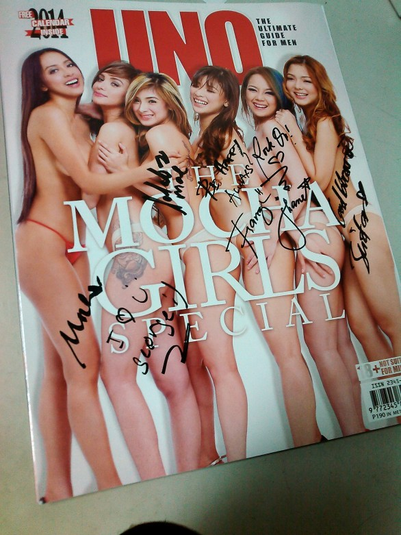My autographed copy of the mag.