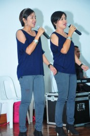 Air Force ladies sing great song numbers that kept that night lively.