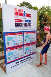 Participant reviews the race map for her category. (I designed these maps. :))