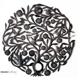 Haitian metal wall art tree of life