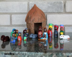 Haitian art, folk art, coconut nativity