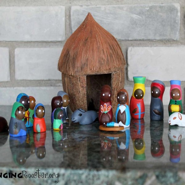 Haitian art, folk art, coconut nativity