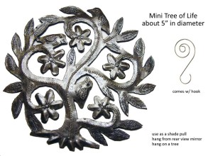 Tree of Life, Haitian art, recycled metal