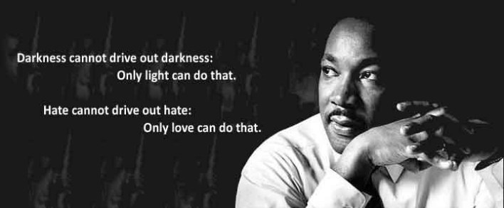Love Drives out Hatred, Happy MLK Day from Singing Rooster
