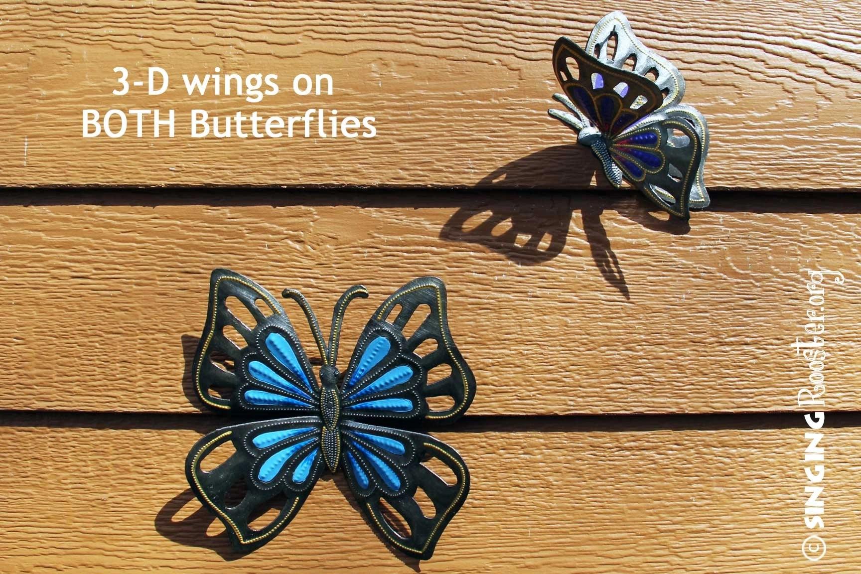 shop butterfly wall art online fair trade handmade in haiti. Black Bedroom Furniture Sets. Home Design Ideas