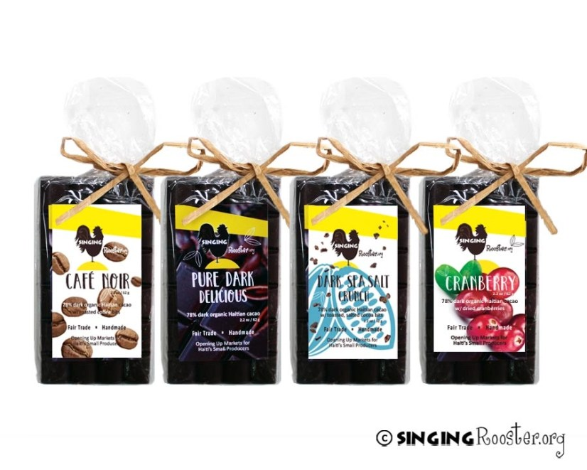 Wholesale, organic Haitian chocolate bars, 40%+ proceeds