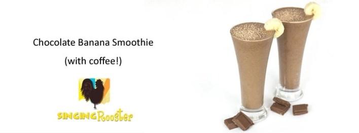 coffee chocolate banana smoothie