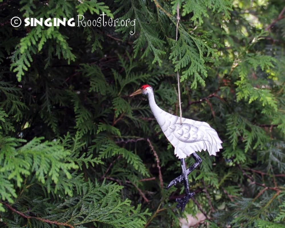 Christmas sandhill crane ornaments