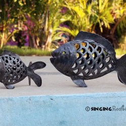 metal fish sculptures