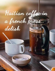 french press haiti coffee