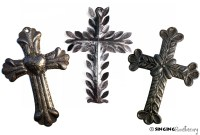 Exquisite Metal Crosses, Religious Art handmade from Haiti