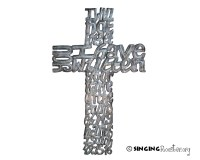 Spectacular word art, handmade metal cross from Haiti ...