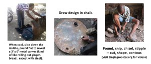 how oil drum art is make