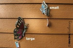 outdoor butterfly art