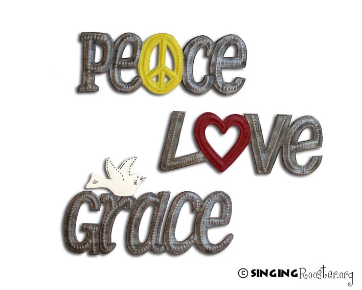 buy peace grace love word art online