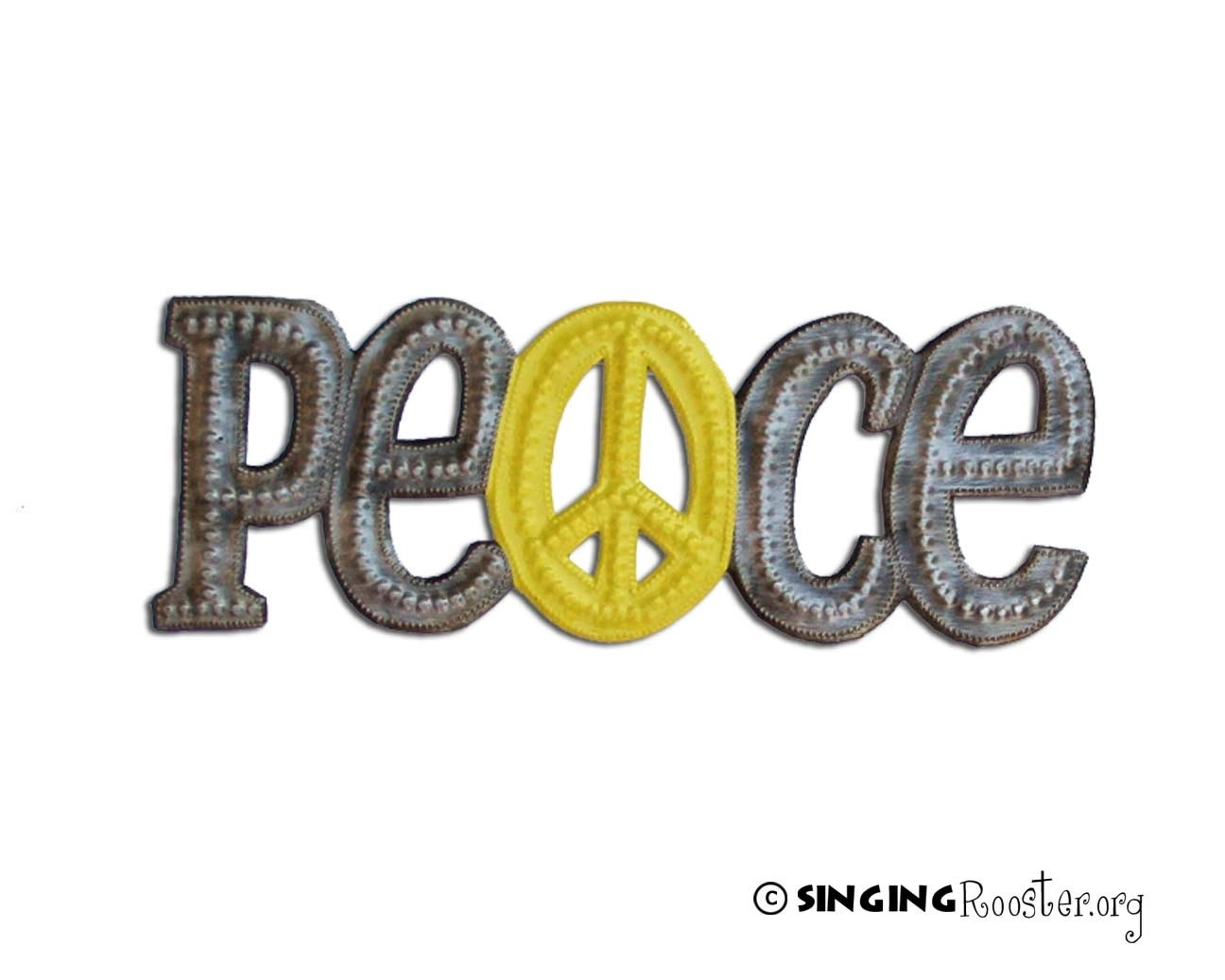Peace, Love, Grace Word Wall Art from Haiti