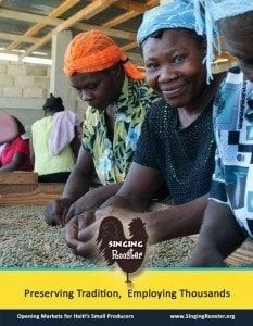 poster haiti coffee bean sorters