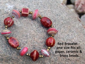 red bracelet haiti ceramic