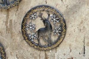 reindeer Christmas art