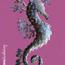 metal sea horse wall art