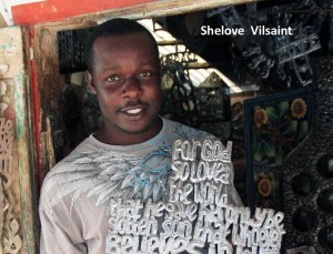 Metal Cross with words, scripture Haiti, shop Singing Rooster