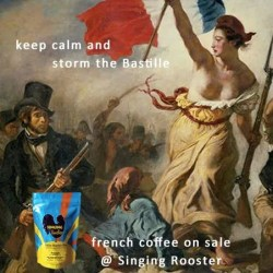 French coffee sale, Singing Rooster