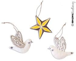 buy bird star dove Christmas ornaments, Haiti online