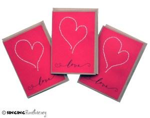 Valentine cards, Singing Rooster