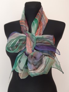 Chiffon scarf in bow