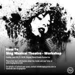 How To Sing Musical Theatre – Workshop