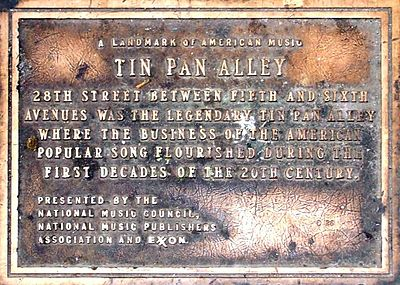 What is Tin Pan Alley?