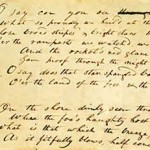 Francis Scott Key handwriting of the Star Spangeled Banner
