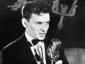 Frank Sinatra performing