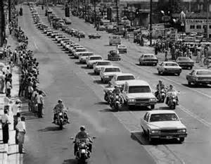 Procession for the funeral of Elvis Presley