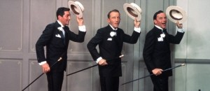 Frank Sinatra with Dean Martin and Bing Crosby