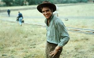 A scene from his first movie, Love Me Tender