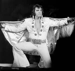 Elvis was well known for spreading out the cape on his jumpsuit on certain songs