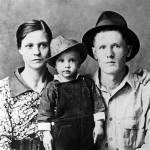 A young Elvis Presley with his parents