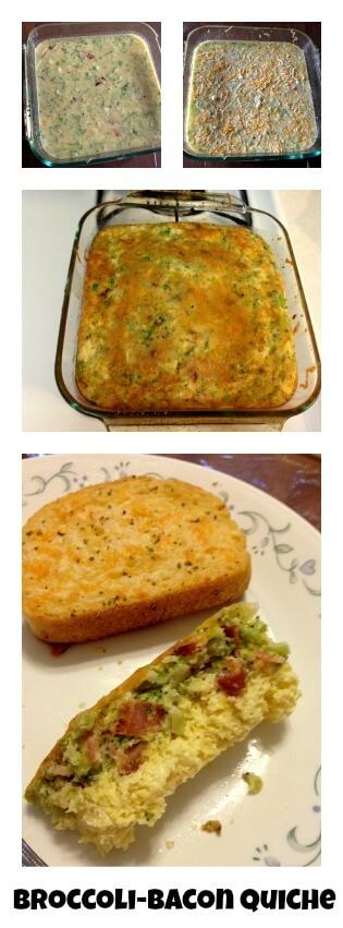 Broccoli-Bacon Quiche