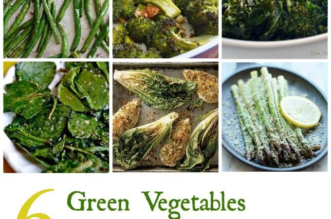 roasted green vegetables