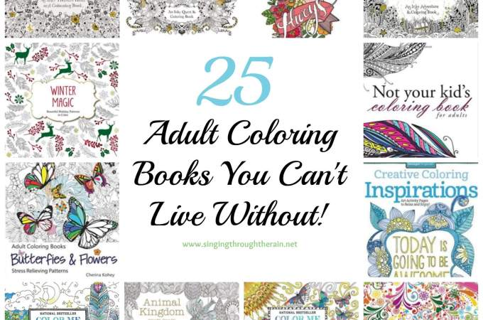 25 Adult Coloring Books You Can't Live Without!