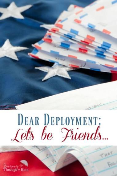 Dear Deployment: Let's be Friends