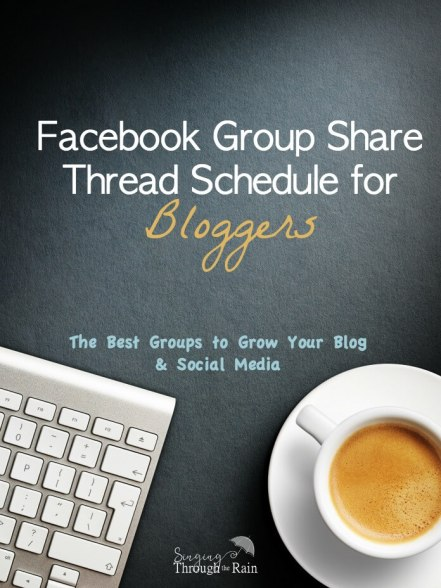 Facebook Group Share Thread Schedule for Bloggers