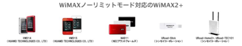 WiMAXノーリミットモード