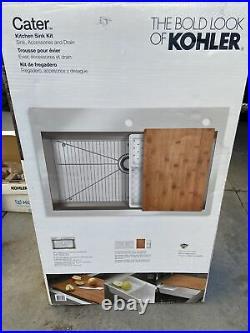 kohler cater 33 x 22 x 9 top mount undermount single bowl kitchen sink kit